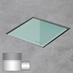 ESS Aqua Jewels Quattro Bodenablauf inklusive Abdeckung, waagerechter Anschluss