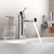 Grohe Essence New single lever basin mixer, with pop-up waste set H: 174 mm