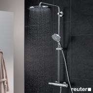Grohe Rainshower 310 Power & Soul Duschsystem mit Thermostatbatterie für Wandmontage