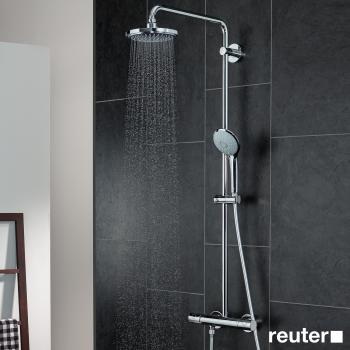 grohe euphoria duschsystem f r die wandmontage mit brausearm 450 mm 27296001 reuter onlineshop. Black Bedroom Furniture Sets. Home Design Ideas