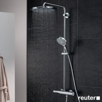 grohe rainshower system 310 duschsystem mit thermostatbatterie f r wandmontage 27968000. Black Bedroom Furniture Sets. Home Design Ideas