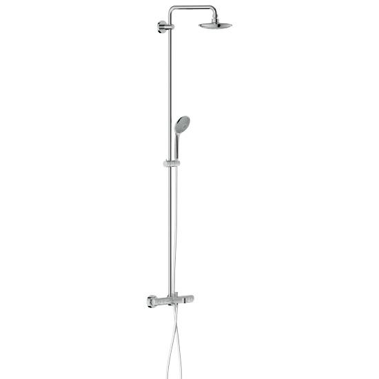 grohe euphoria duschsystem mit wannenthermostat duscharm. Black Bedroom Furniture Sets. Home Design Ideas
