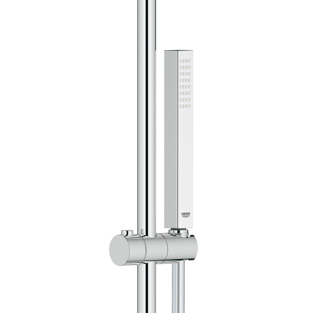 grohe euphoria system 150 duschsystem mit thermostatbatterie f r die wandmontage 27932000. Black Bedroom Furniture Sets. Home Design Ideas