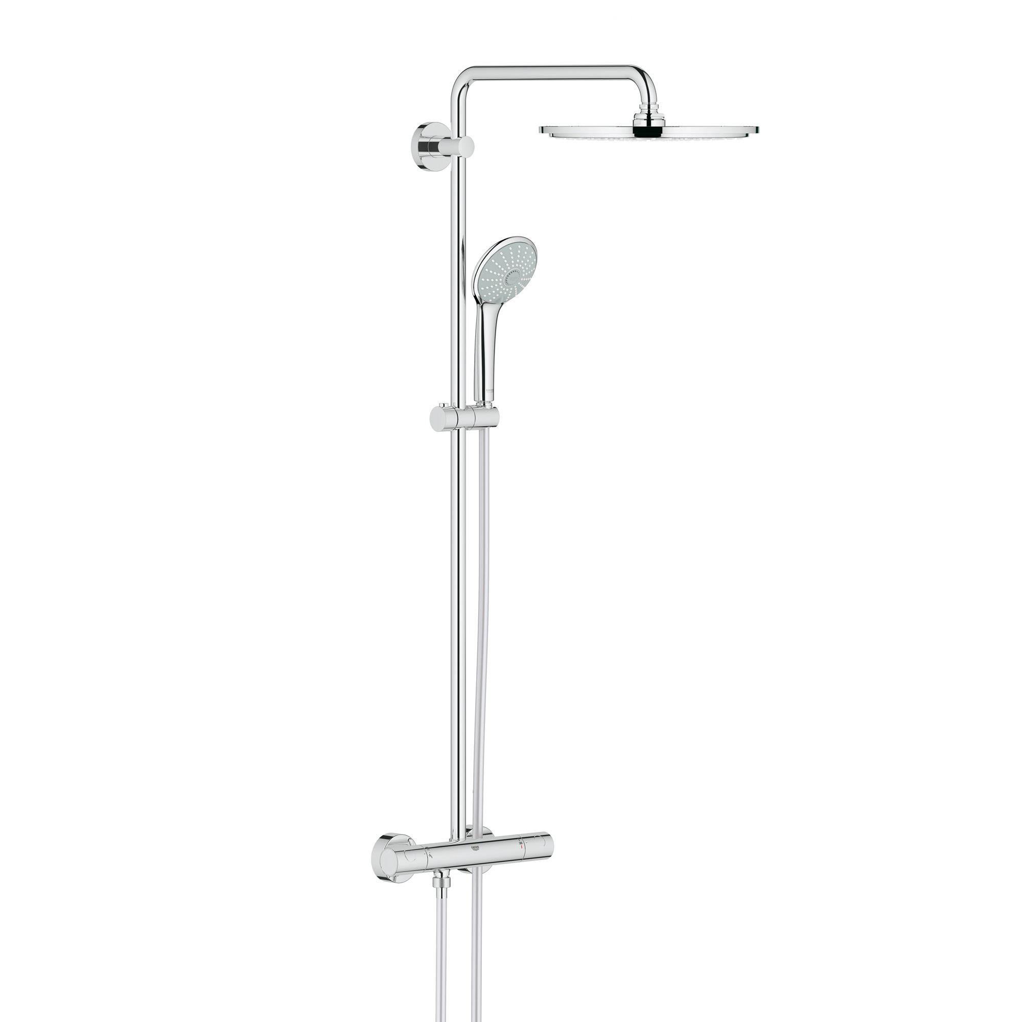 grohe euphoria xxl system 310 duschsystem mit thermostatbatterie f r wandmontage 26075000. Black Bedroom Furniture Sets. Home Design Ideas