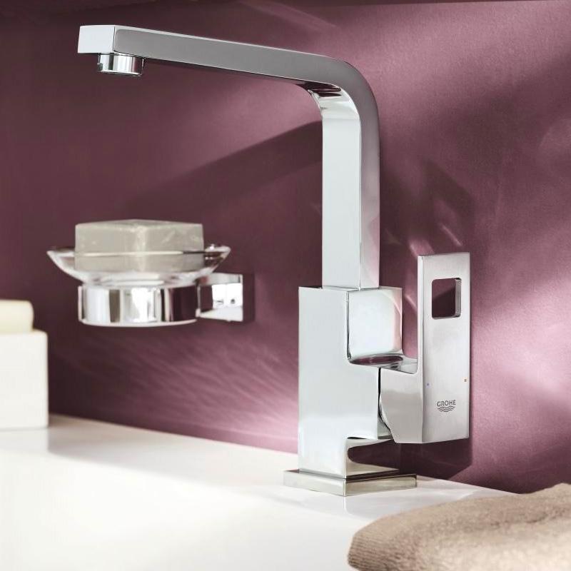 grohe eurocube einhand waschtischbatterie mit ablaufgarnitur dn 15 23135000 reuter onlineshop. Black Bedroom Furniture Sets. Home Design Ideas