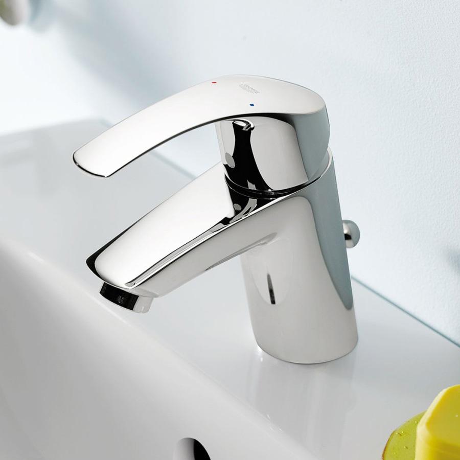 grohe eurosmart neu einhand waschtischbatterie es funktion mit ablaufgarnitur h 146 mm. Black Bedroom Furniture Sets. Home Design Ideas
