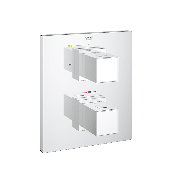 grohe grohtherm cube thermostat wannen brausebatterie 19958000 reuter onlineshop. Black Bedroom Furniture Sets. Home Design Ideas