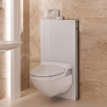Geberit Monolith Sanitärmodul für AquaClean 8000/8000plus H: 101 cm Glas weiß