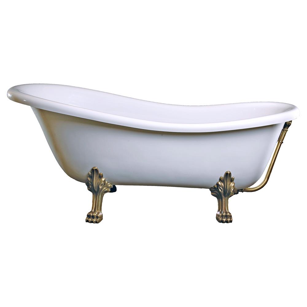 schr der rectime retro style freistehende badewanne l 160 b 78 h 72 cm wei mit l wenf en. Black Bedroom Furniture Sets. Home Design Ideas