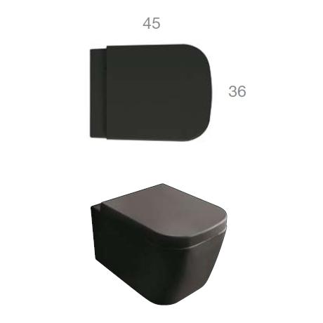 globo stone classic wand wc l 45 b 36 cm schwarz matt sss03ar reuter onlineshop. Black Bedroom Furniture Sets. Home Design Ideas