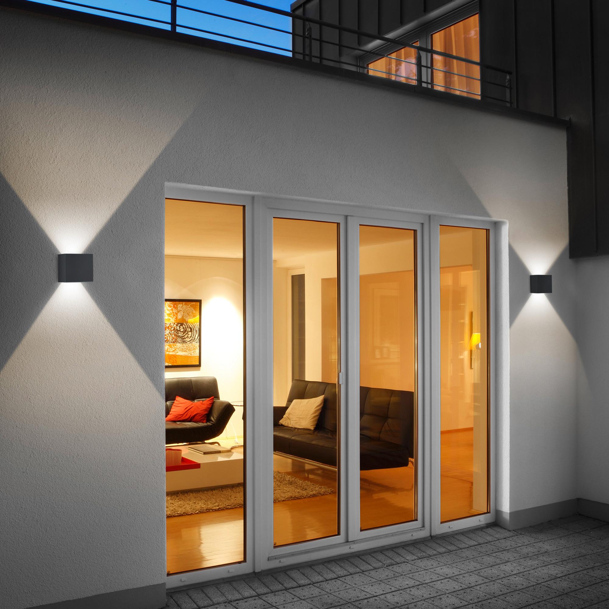 Helestra siri 44 led wandleuchte lichtaustritt verstellbar reuter onlineshop - Wandbeleuchtung aussen ...