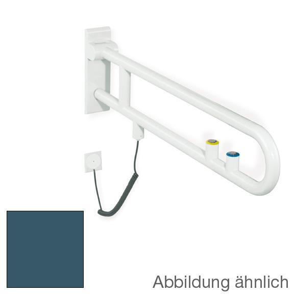 hewi serie 801 st tzklappgriff sp l und funktionstaste stahlblau 50 reuter. Black Bedroom Furniture Sets. Home Design Ideas