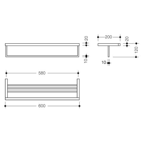 hewi system 100 badetuchablage chrom. Black Bedroom Furniture Sets. Home Design Ideas