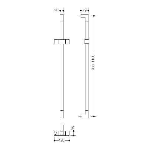 hewi system 100 brausehalterstange achsma 1100 mm wei. Black Bedroom Furniture Sets. Home Design Ideas