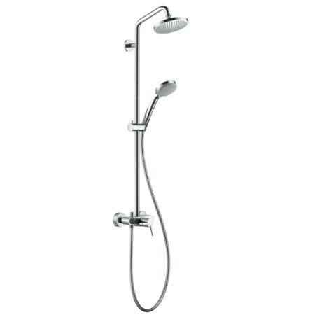 hansgrohe croma 100 1jet showerpipe mit einhebelmischer 27154000 reuter onlineshop. Black Bedroom Furniture Sets. Home Design Ideas