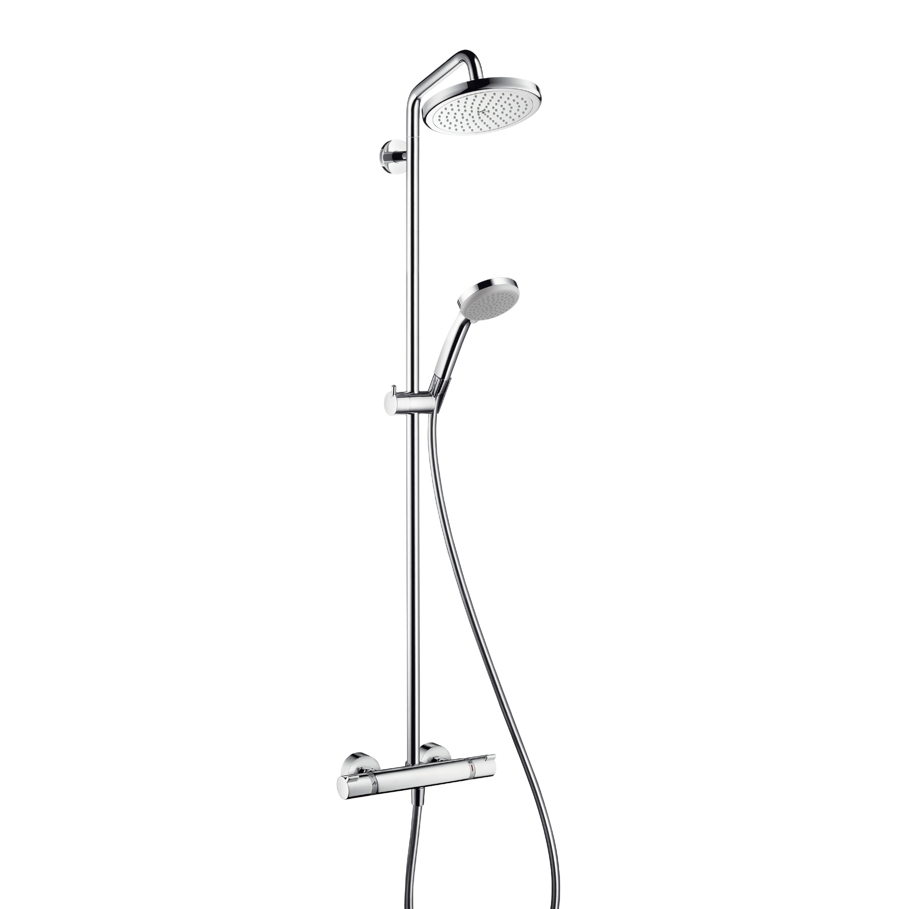 hansgrohe croma 220 air 1jet showerpipe 27185000. Black Bedroom Furniture Sets. Home Design Ideas