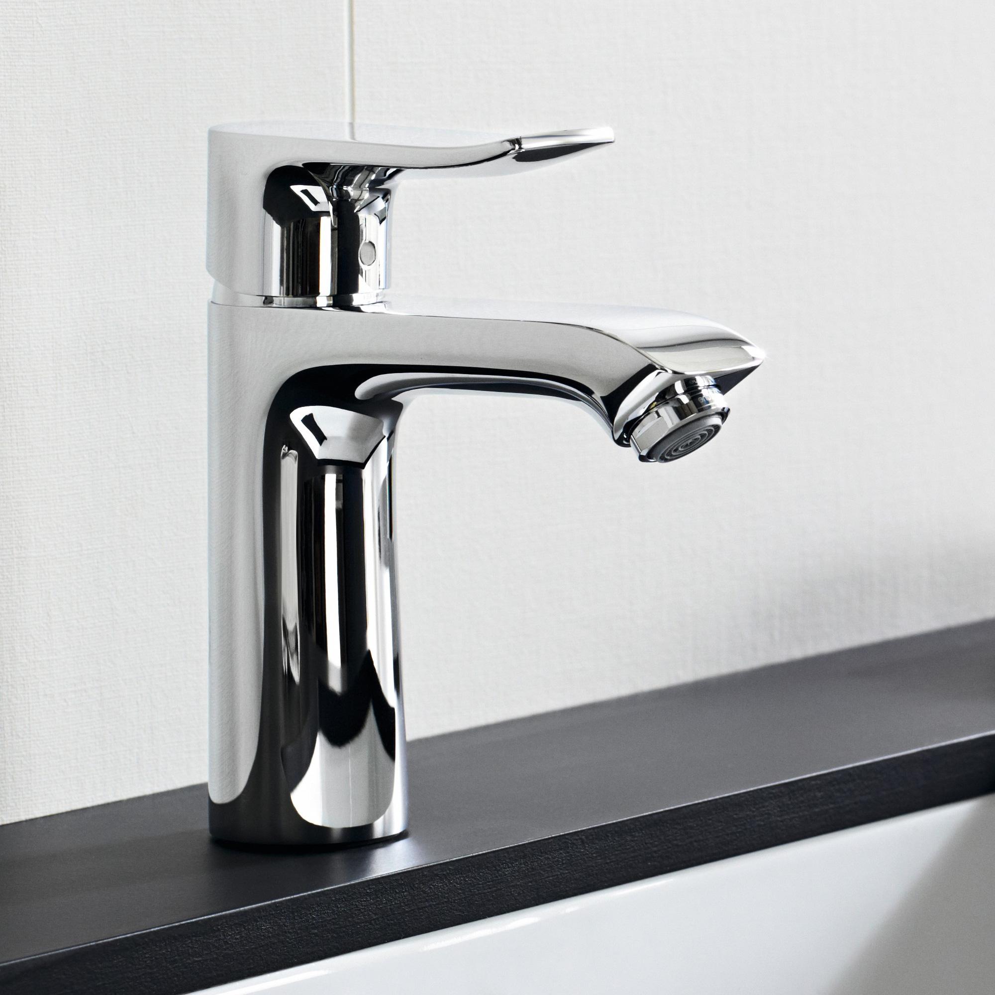 hansgrohe metris einhebel waschtischmischer 110 lowflow mit ablaufgarnitur 31203000 reuter. Black Bedroom Furniture Sets. Home Design Ideas