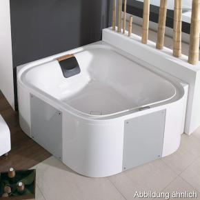 hoesch ergo eck badewanne freistehend wei verkleidung acryl wei glas silber 6443. Black Bedroom Furniture Sets. Home Design Ideas