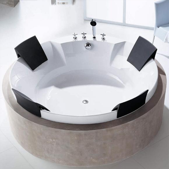 hoesch aviva badewanne rund mit vier r ckenst tzen wei. Black Bedroom Furniture Sets. Home Design Ideas