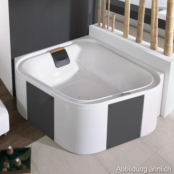 hoesch ergo eck badewanne freistehend wei verkleidung acryl wei glas schwarz 6443. Black Bedroom Furniture Sets. Home Design Ideas