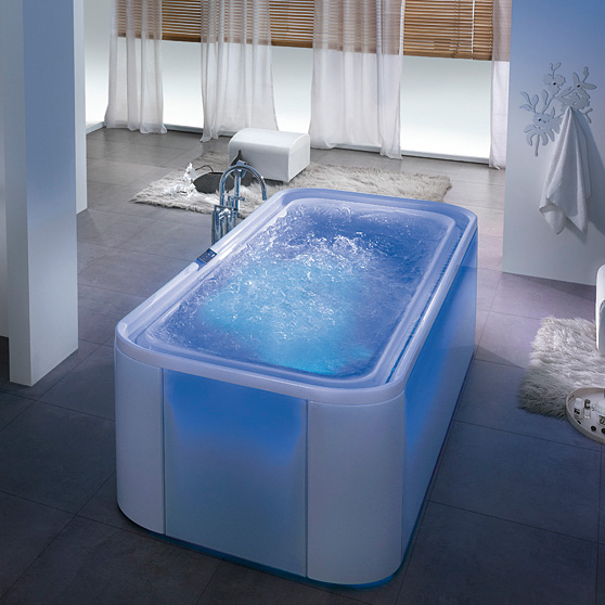 hoesch ergo rechteck whirlpool freistehend l 207 5 b. Black Bedroom Furniture Sets. Home Design Ideas