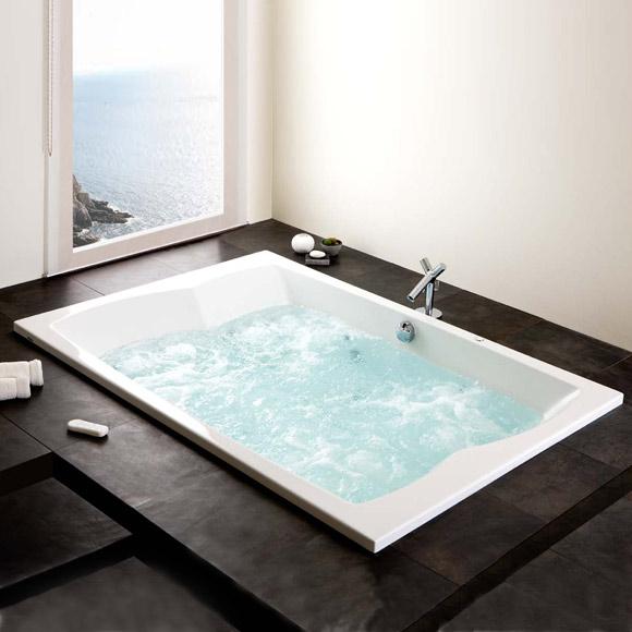 hoesch largo rechteck whirlwanne l 200 b 140 h 48 cm. Black Bedroom Furniture Sets. Home Design Ideas