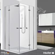 Reuter Kollektion Premium Eckeinstieg 90 x 90, Tür 55 cm