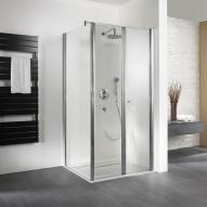 HSK Exklusiv Pendeltür für Seitenwand klar hell Edelglas / silber matt, WEM 87-90,5 cm