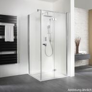 HSK Exklusiv Seitenwand für Drehtür mit Handtuchhalter klar hell Edelglas / silber matt, WEM 98,5-100,5 cm