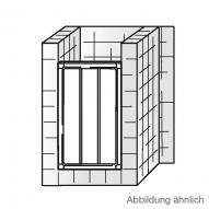 HSK Favorit Gleittür in Nische klar hell / silber matt, WEM 85,5-90,5 cm