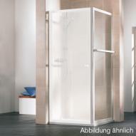 HSK Favorit Seitenwand kurz Kunstglas Tropfen hell / silber matt, WEM 72-74 cm