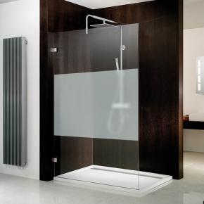 hsk walk in atelier pur duschwand mittig mattiert chrom optik reuter onlineshop. Black Bedroom Furniture Sets. Home Design Ideas