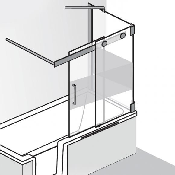 badewannenaufsatz mit seitenwand preisvergleiche erfahrungsberichte und kauf bei nextag. Black Bedroom Furniture Sets. Home Design Ideas