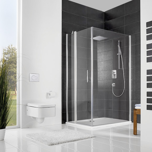 hsk favorit nova dreht r f r seitenwand mit festteil klar hell silber matt wem 118 5 120 5. Black Bedroom Furniture Sets. Home Design Ideas