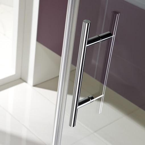 hsk favorit nova pendelt r in nische mit festteil klar hell silber matt wem 118 0 121 5. Black Bedroom Furniture Sets. Home Design Ideas