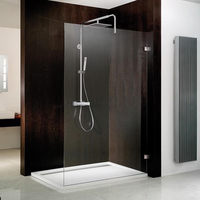 hsk walk in atelier pur duschwand klar hell edelglas chrom optik reuter. Black Bedroom Furniture Sets. Home Design Ideas