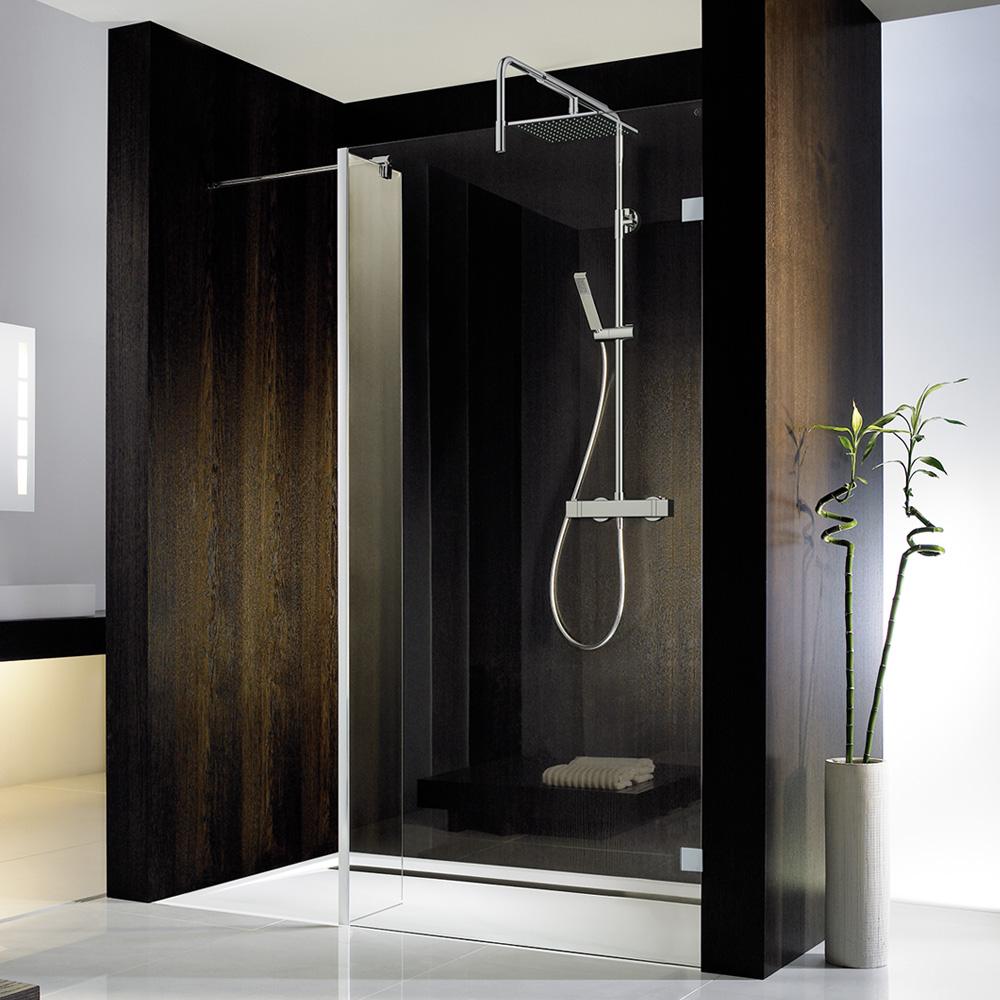 hsk walk in atelier pur duschwand seitenteil klar hell edelglas chrom optik. Black Bedroom Furniture Sets. Home Design Ideas