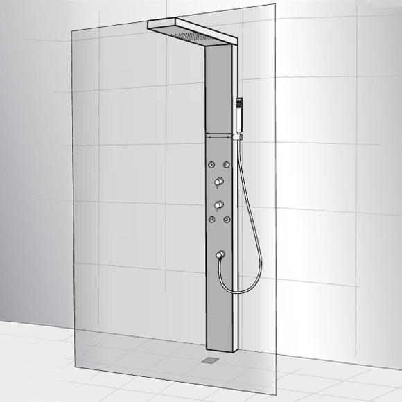 hsk walk in lavida duschwand klar hell chrom optik reuter onlineshop. Black Bedroom Furniture Sets. Home Design Ideas