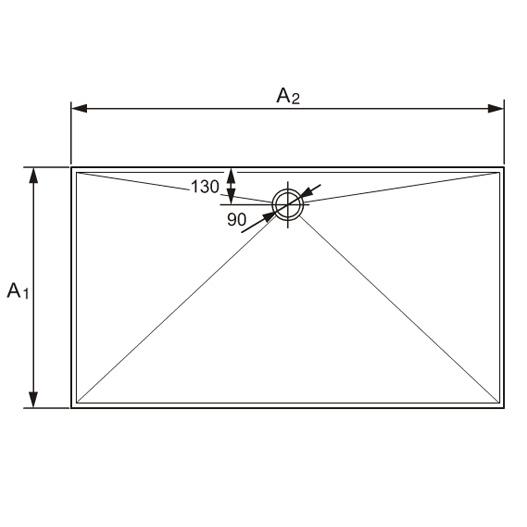 h ppe manufaktur easystep rechteck duschwanne 215023055 reuter onlineshop. Black Bedroom Furniture Sets. Home Design Ideas