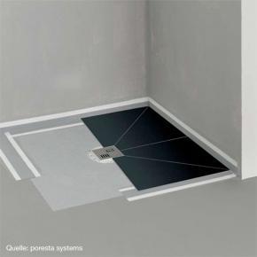 poresta systems poresta bf befliesbares duschsystem zentrierter ablauf rechteckig 17903016. Black Bedroom Furniture Sets. Home Design Ideas