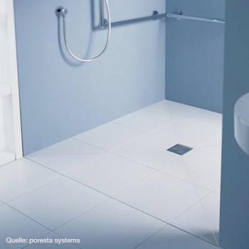 poresta systems poresta bf befliesbares duschsystem zentrierter ablauf rechteckig 17903003. Black Bedroom Furniture Sets. Home Design Ideas