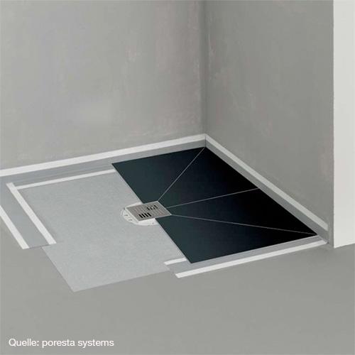 poresta systems poresta bf befliesbares duschsystem zentrierter ablauf rechteckig 17903022. Black Bedroom Furniture Sets. Home Design Ideas