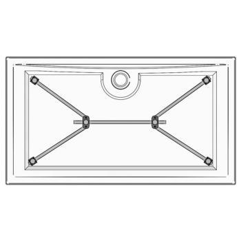 ideal standard brausewannen montagesatz gr e 2 k936067. Black Bedroom Furniture Sets. Home Design Ideas