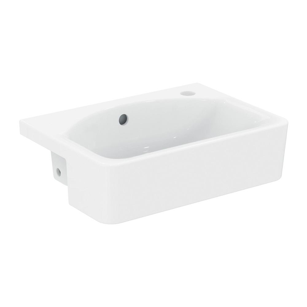 ideal standard connect cube halbeinbauwaschtisch wei. Black Bedroom Furniture Sets. Home Design Ideas