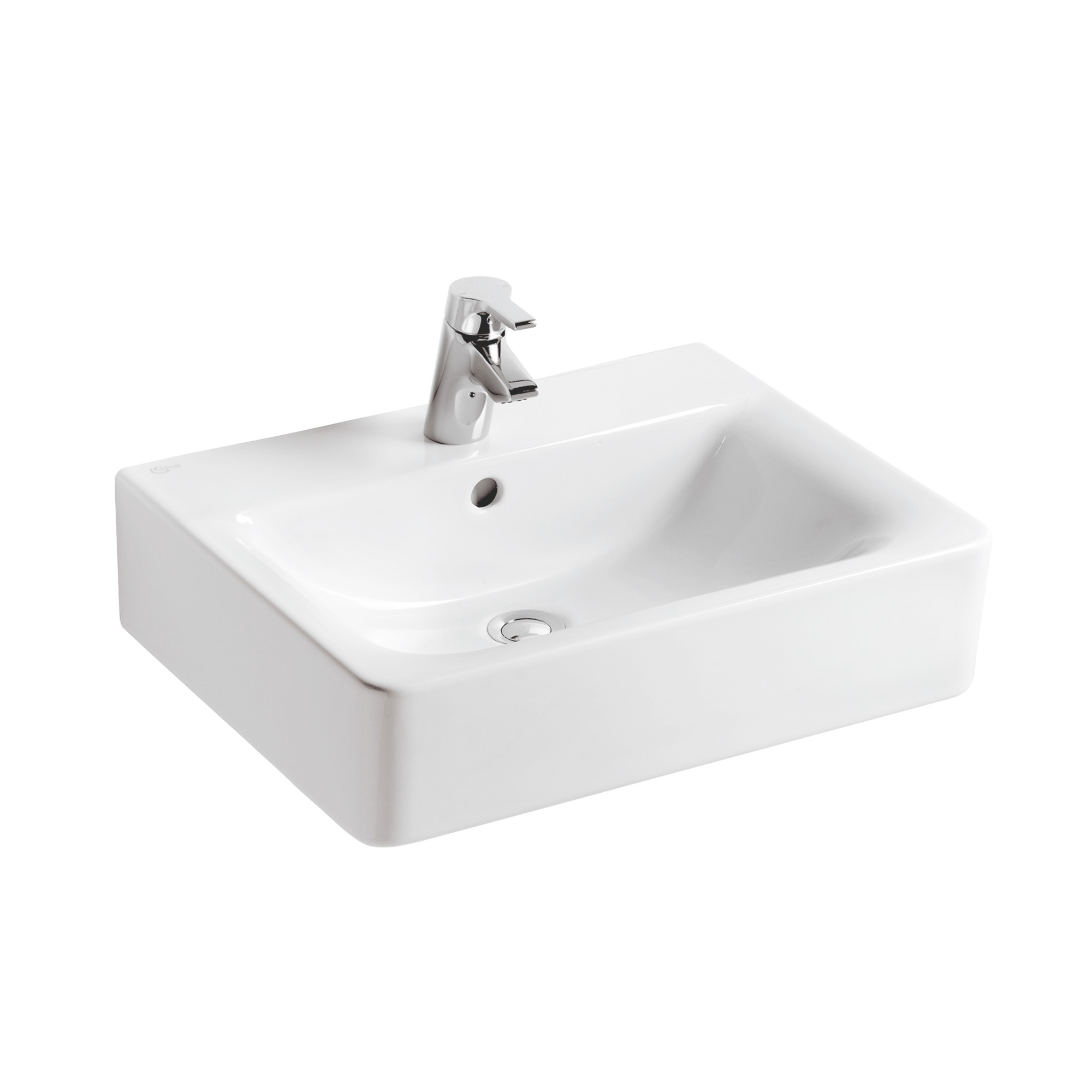 ideal standard connect cube waschtisch wei mit 1. Black Bedroom Furniture Sets. Home Design Ideas