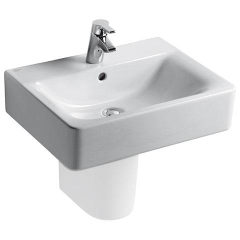 ideal standard connect cube waschtisch wei mit 1 hahnloch und berlauf e714101 reuter. Black Bedroom Furniture Sets. Home Design Ideas