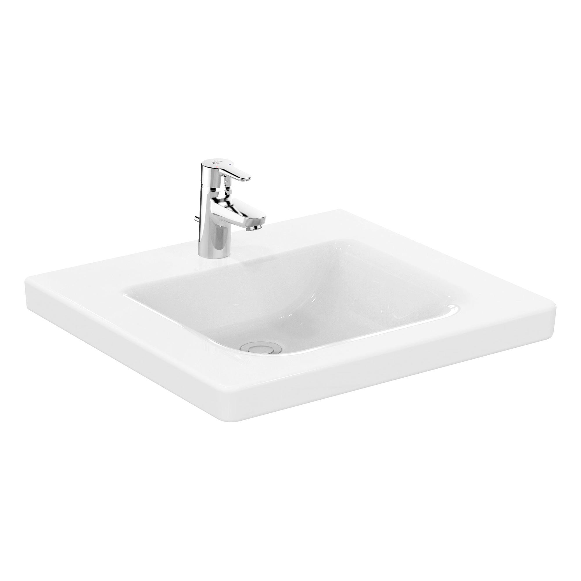 ideal standard connect freedom waschtisch b 60 t 55 5 cm unterfahrbar wei ohne berlauf. Black Bedroom Furniture Sets. Home Design Ideas