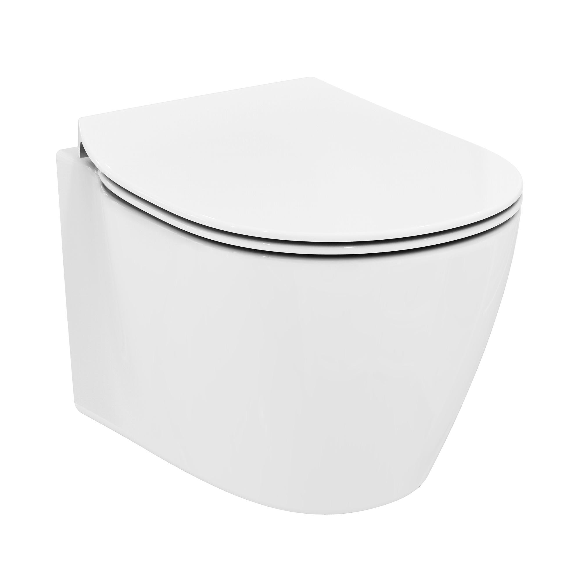 ideal standard connect space wand wc kompakt unsichtbare befestigung wei mit ideal plus. Black Bedroom Furniture Sets. Home Design Ideas