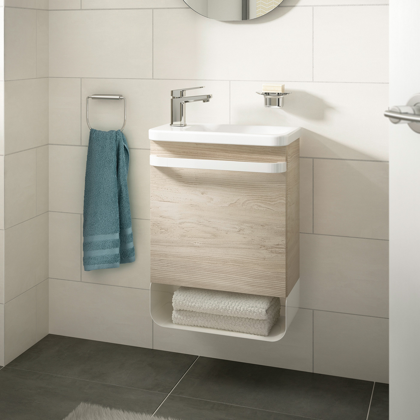 ideal standard tonic ii handwaschbecken 45 cm ablage. Black Bedroom Furniture Sets. Home Design Ideas