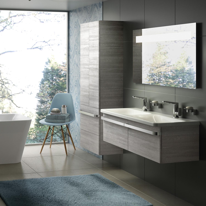 ideal standard tonic ii m bel doppelwaschtisch ohne berlauf mit hl wei k087001 reuter. Black Bedroom Furniture Sets. Home Design Ideas